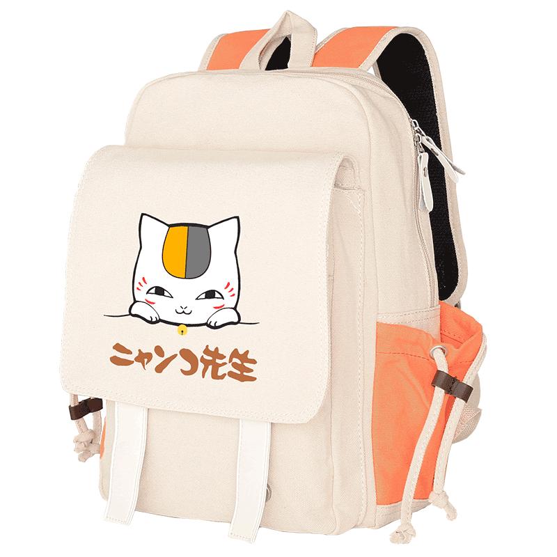 New cat teacher canvas backpack backpack