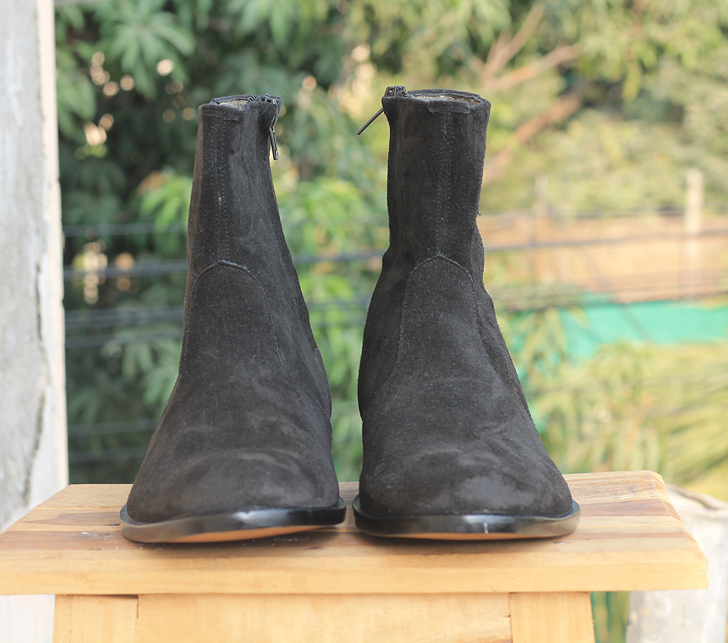 Mens Black Suede Ankle Boots. Mens High Ankle Boots