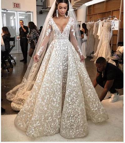 Luxury Sexy V Neck Wedding Dress Sparkle Bling Bling Wedding Dress Hot Long Bridal Dress Wedding Gown Joepaldress Online Store Powered By Storenvy