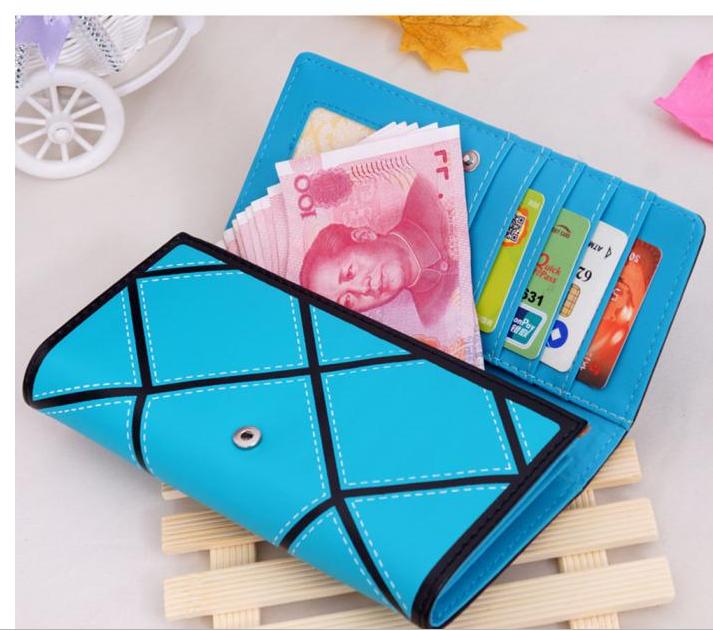 Women pure Leather  Purse Tri-fold Wallet Card Holder Cash Coin Handbag (120571234) photo
