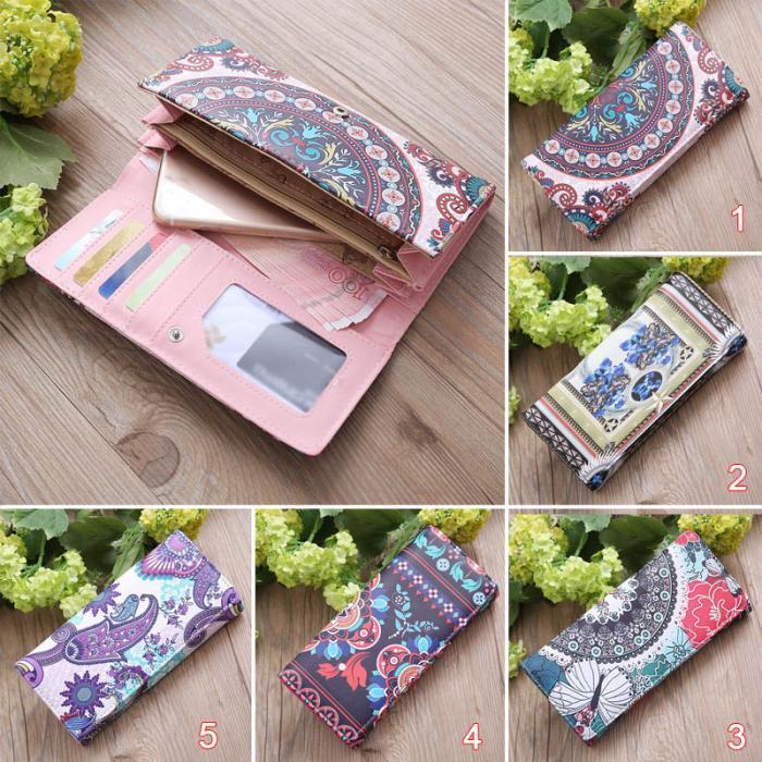 Women  Leather Long Purse  Card Holder Coin Bag Wallet Handbag (120572830) photo