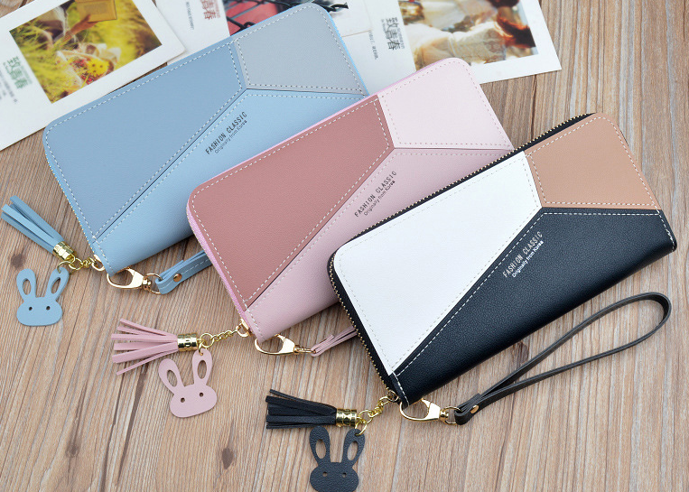 Leather Wallets Women Long Zipper Coin Purses (120574363) photo