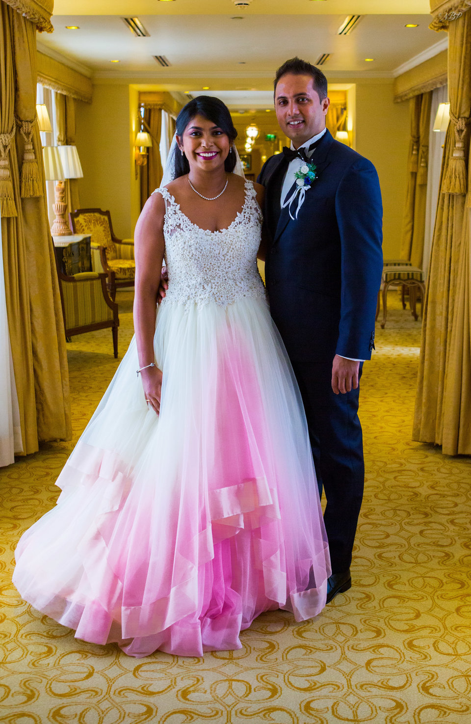 LovepromPlus Size Romantic Ball Gown Ombre Pink Wedding Dresses ...