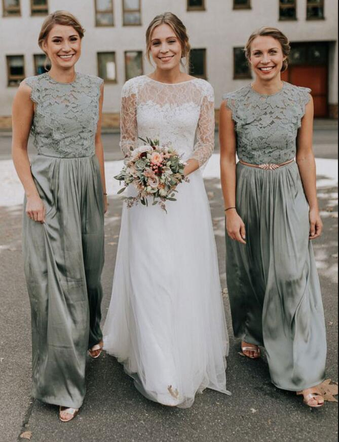 Sage_Green_Long_Bridesmaid_Dresses_with_Lace_Appliques_for_Wedding