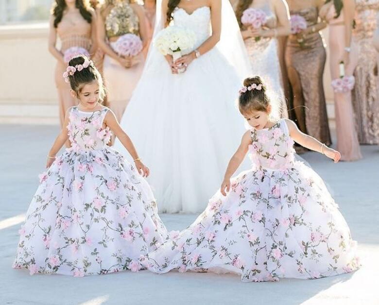 Cute_3D_Print_Flower_Girl_Dresses_for_Wedding
