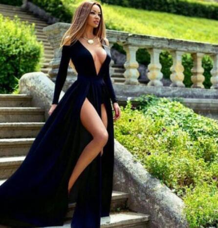 Sexy_Deep_V_Neck_Navy_Blue_Long_Prom_Dresses_Under_100