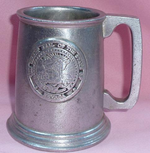 Rwp Wilton Pewter Metalware Armetale Seal Of Nevada Emblem