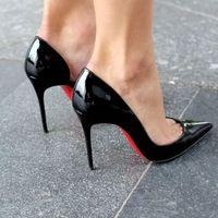 2020 New Black Pointy Stiletto Heel Women Hot Sales - Thumbnail 2