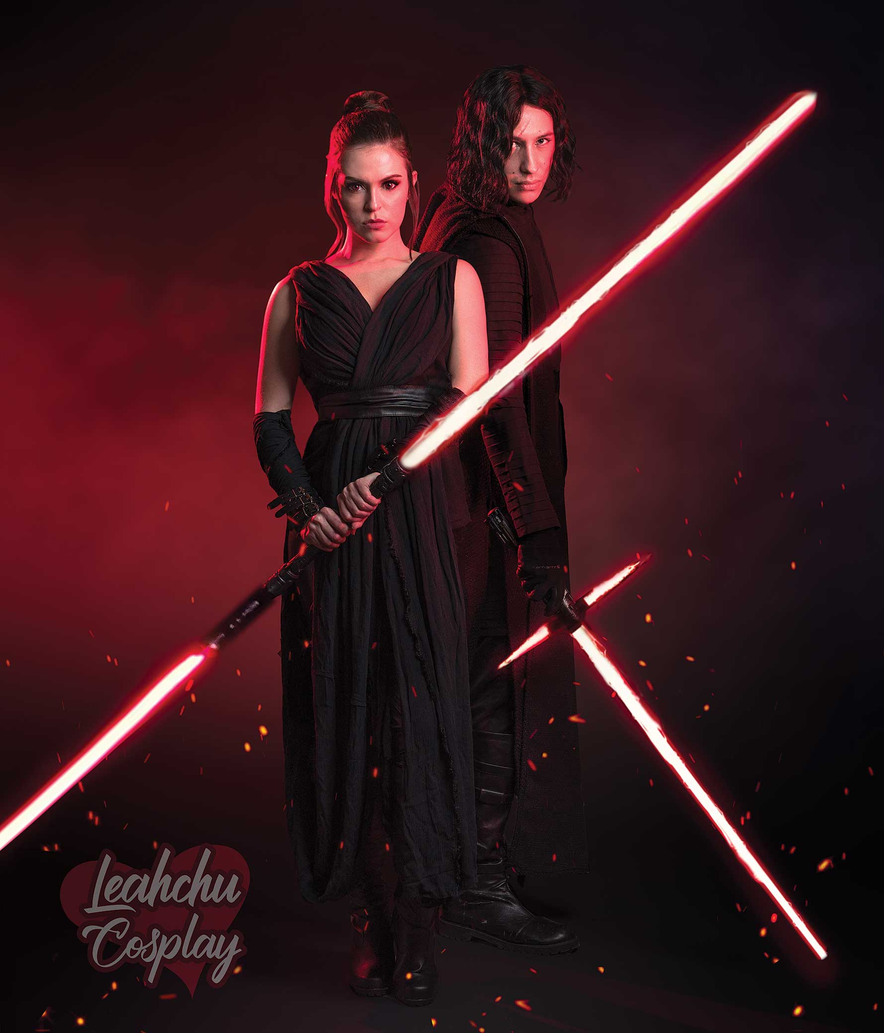 Dark Rey And Kylo Ren Reylo Cosplay Star Wars The Rise Of Skywalker 2 Sold By Leahchu Cosplay On Storenvy