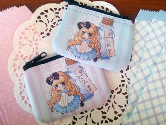 Alice in Wonderland chibi coin purse / wallet (125564317) photo