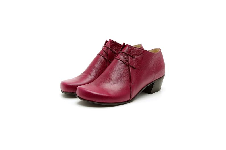 Handmade Red Oxford leather shoes