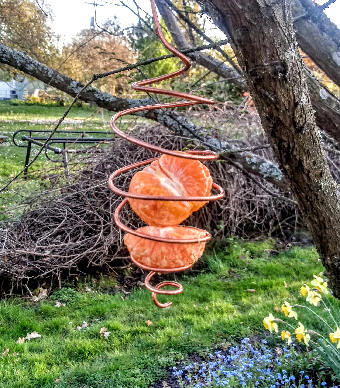 Copper Wire Garden Bird Feeder (127712338) photo