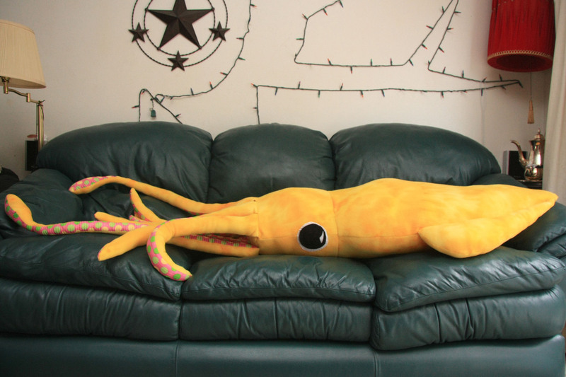 Giant Squid Plush Pillow On Storenvy