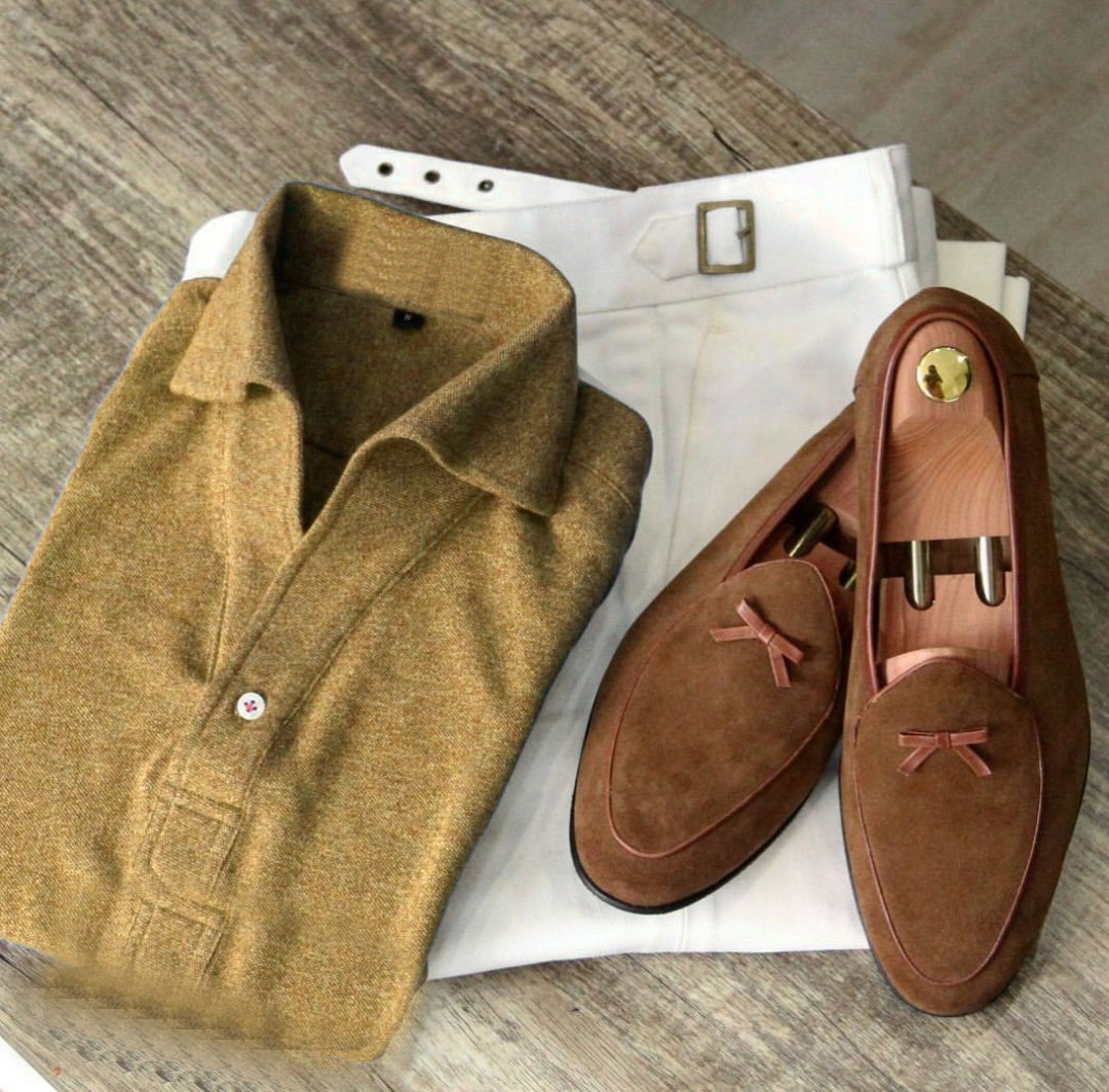 Men Tussle Suede Slippers, Slip-on Suede Shoes, Casual Party Shoes For Men