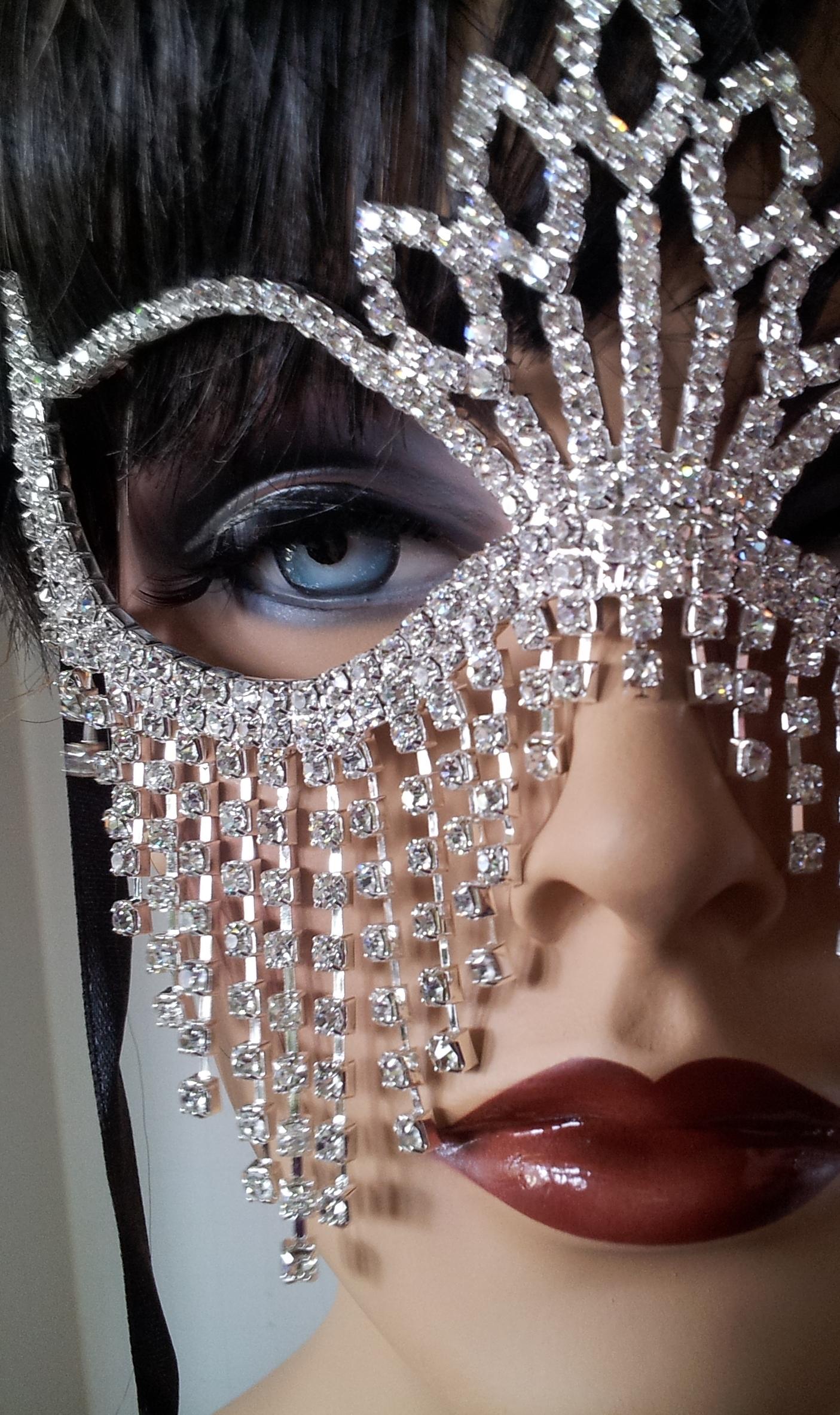 Crystal Masquerade Fringed Mask On Storenvy