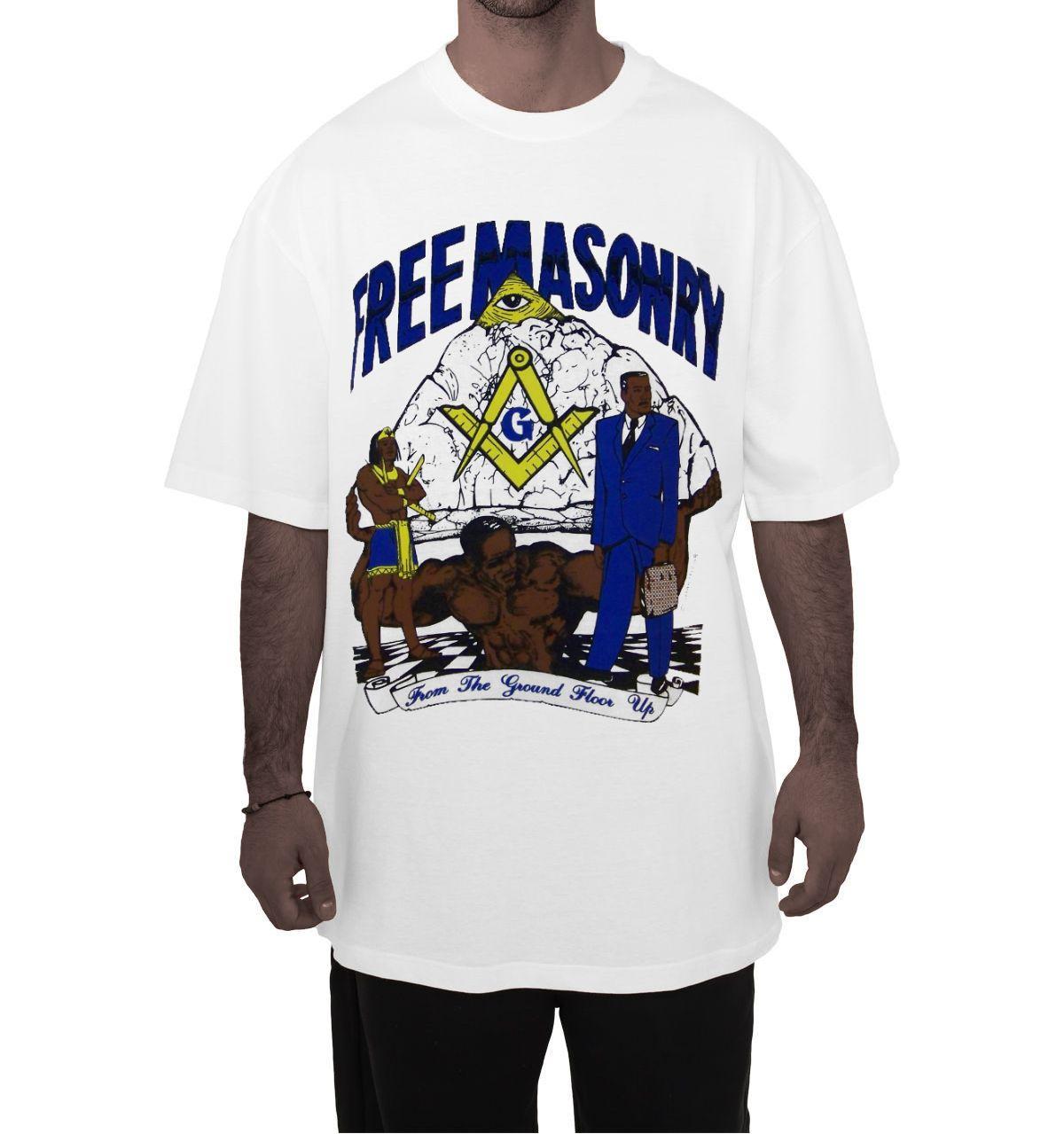 Storenvy coupon: Masonic - Freemasonry, from the ground floor up  White T-Shirt