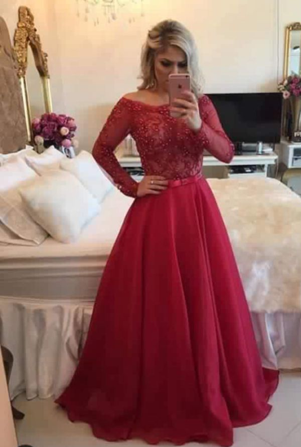 Evening Long Prom Dress Formal Party Ball Gown Bridesmaid Lace A-line Dress US