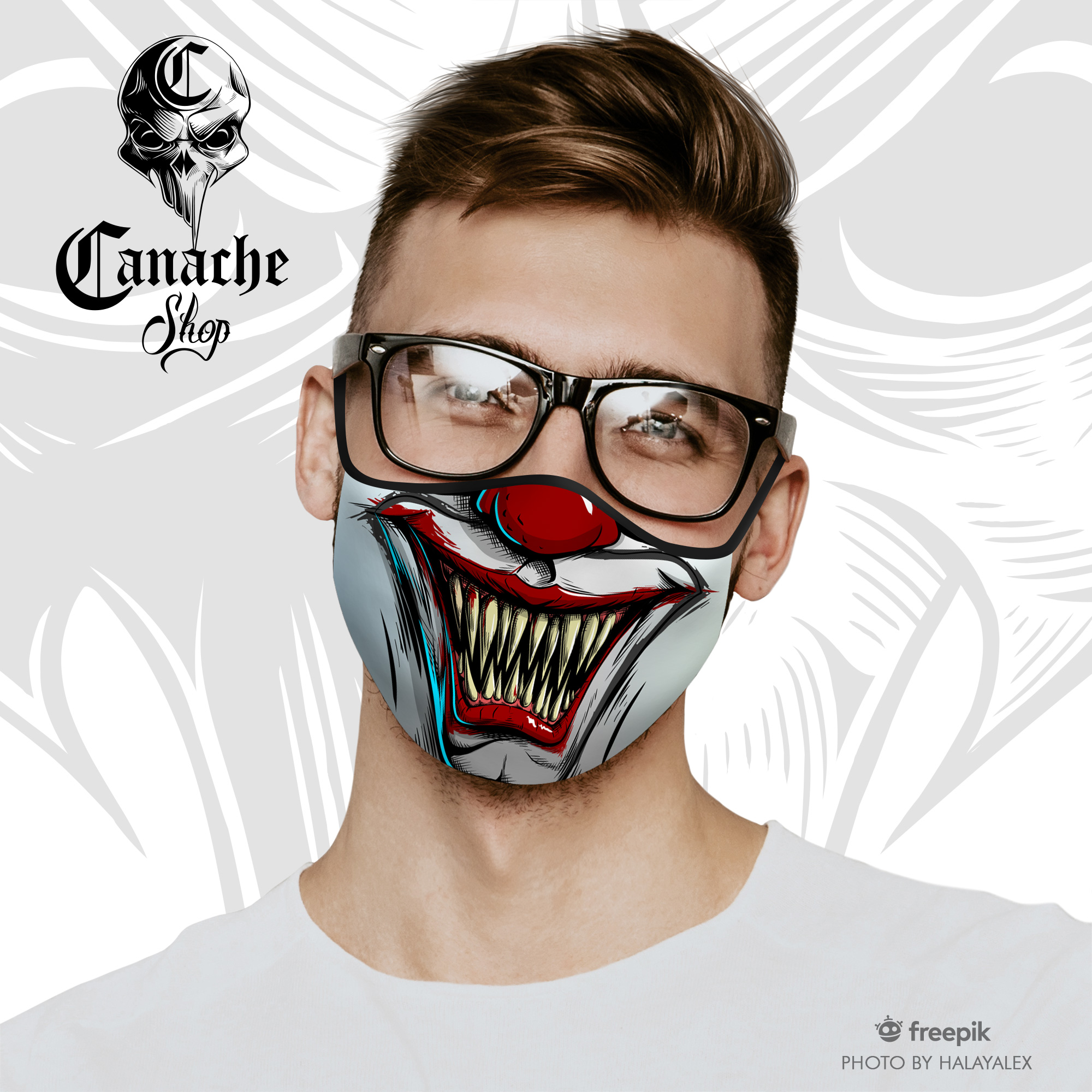 Evil Clown Face Mask · CanacheShop · Online Store Powered ...