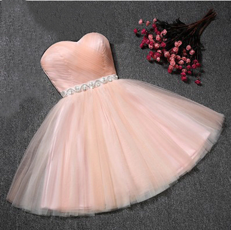 LP1099,Sweetheart Homecoming Dress,Tulle Short Prom Dress,Sexy Cocktail Dress,Pink Graduation Dress