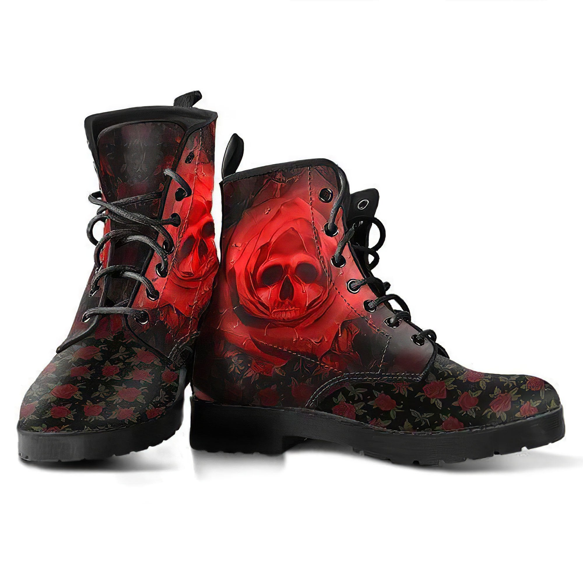 Rose Skull, Womens Leather Boots, Skull Shoes, Ankle Boots Women, Winter Shoes, Womens Rain Boots, Boho Boots, Walking Boots Women