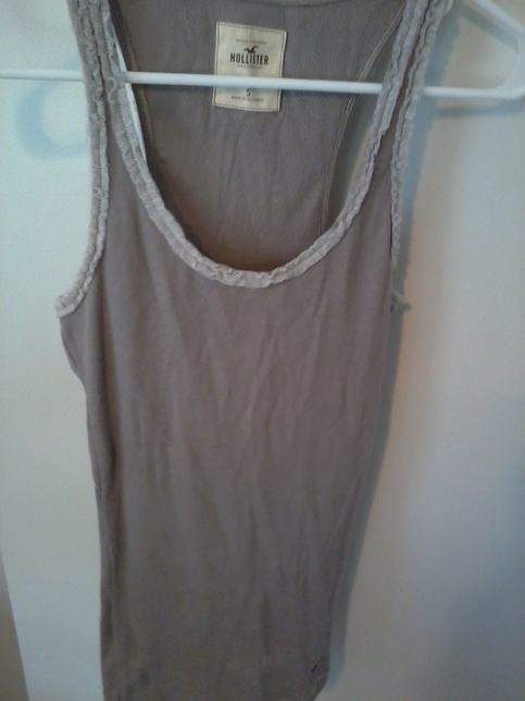Hollister Tan Lace Edge Tank Top S On Storenvy