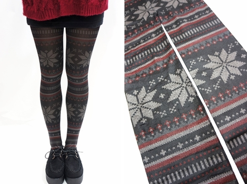 93902149d Snowflake Pattern Holiday Christmas Tights  Leggings · Sandysshop · Online  Store Powered by Storenvy
