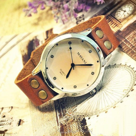mens watch womens watch vintage leather vintage style watch 1 original