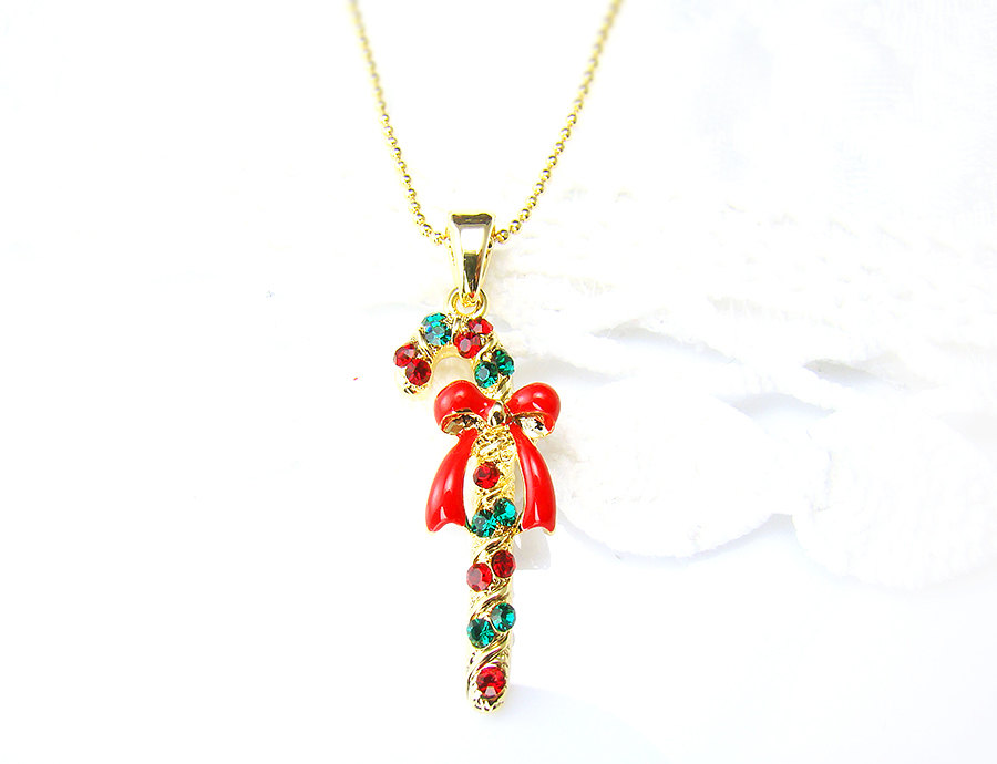 Christmas Stick Pendant Necklace Ornament Charm Jewelry ...