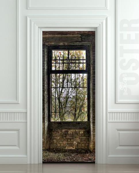 Wall Door Sticker Window House Grating Lattice Mural Decole Film Self Adhesive Poster 30x79