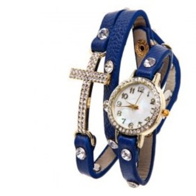 03a510a49f70 Tribal Pattern Denim Jacket.  35.99 · Diamond cross leather watch