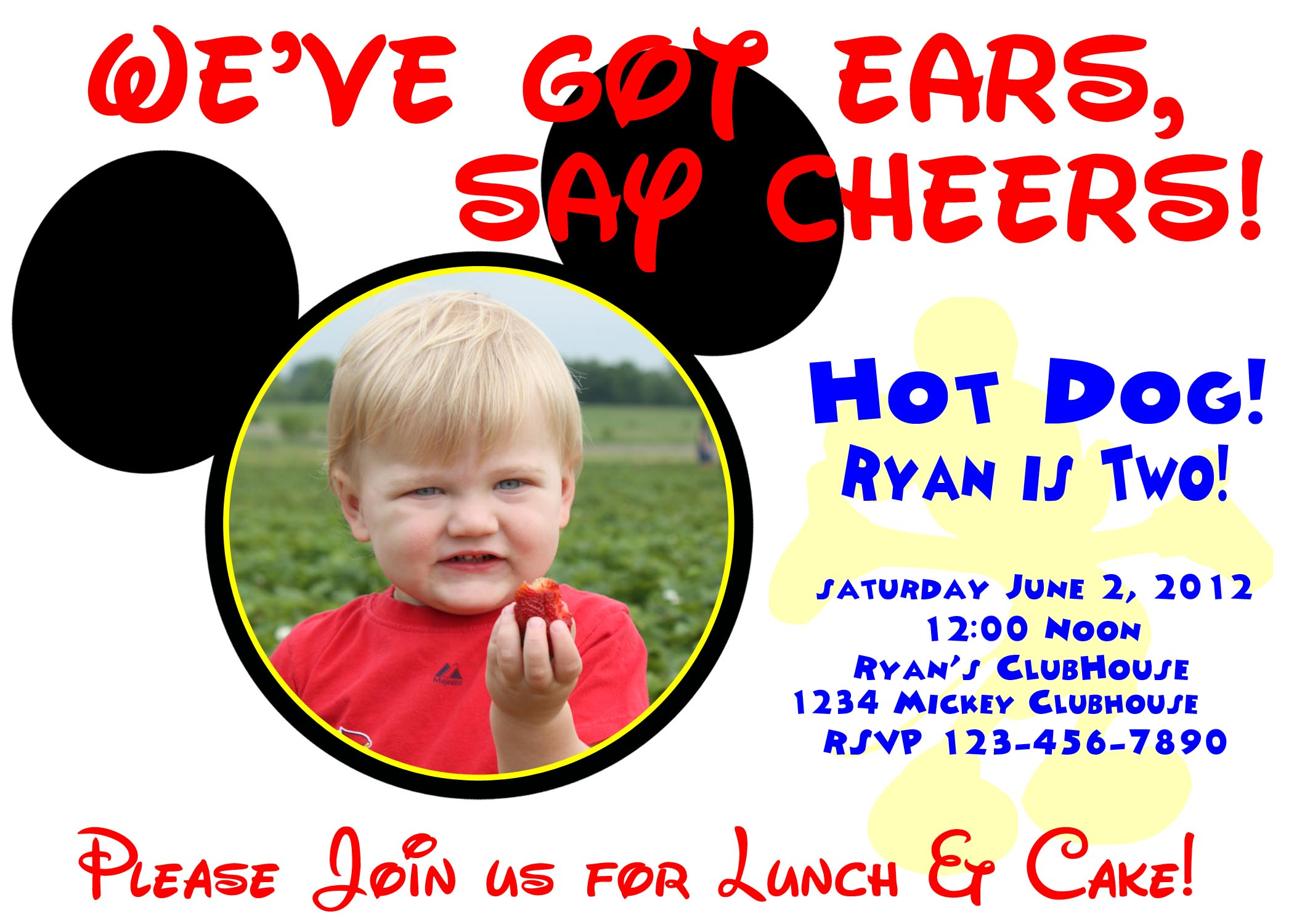 Mickey Mouse 2Nd Birthday Invitations as best invitation design