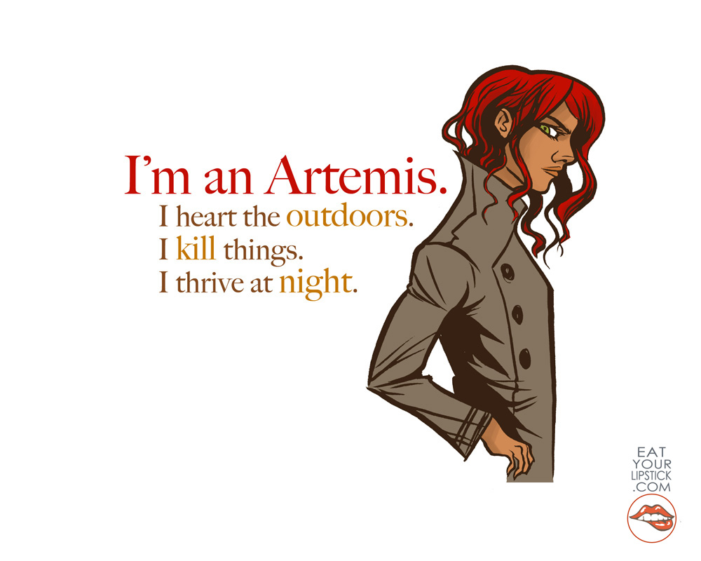 I\u0027m an Artemis // Greek Goddess Art Print