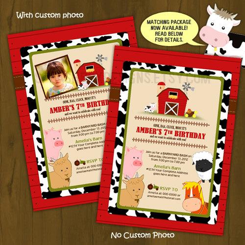 Barn Birthday Invitation · Splashbox Printables · Online ...