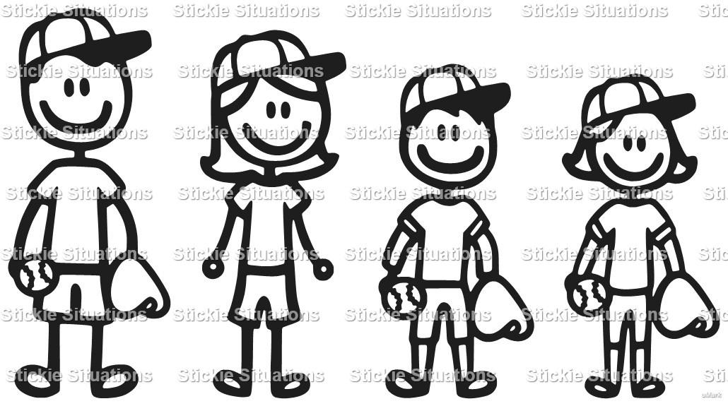 Baseball Family Car Decal