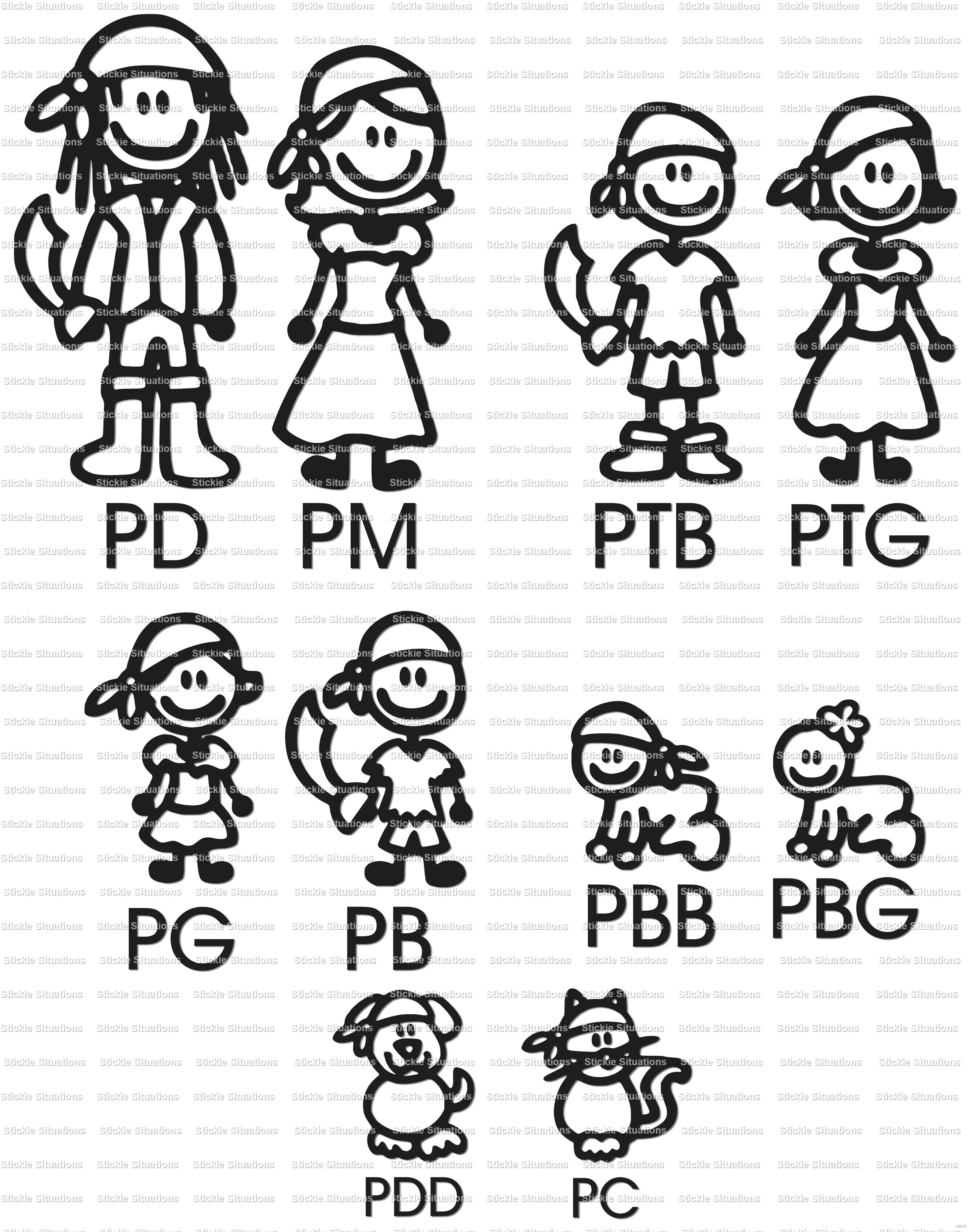 Car sticker design family - Pirate_20family_20characters_small