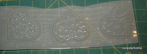 Image of 3 Big Animal Print Hearts Zebra Leopard Giraffe Cheetah Print Flexible Plastic Resin Clay Plaster Soap Candle Mold