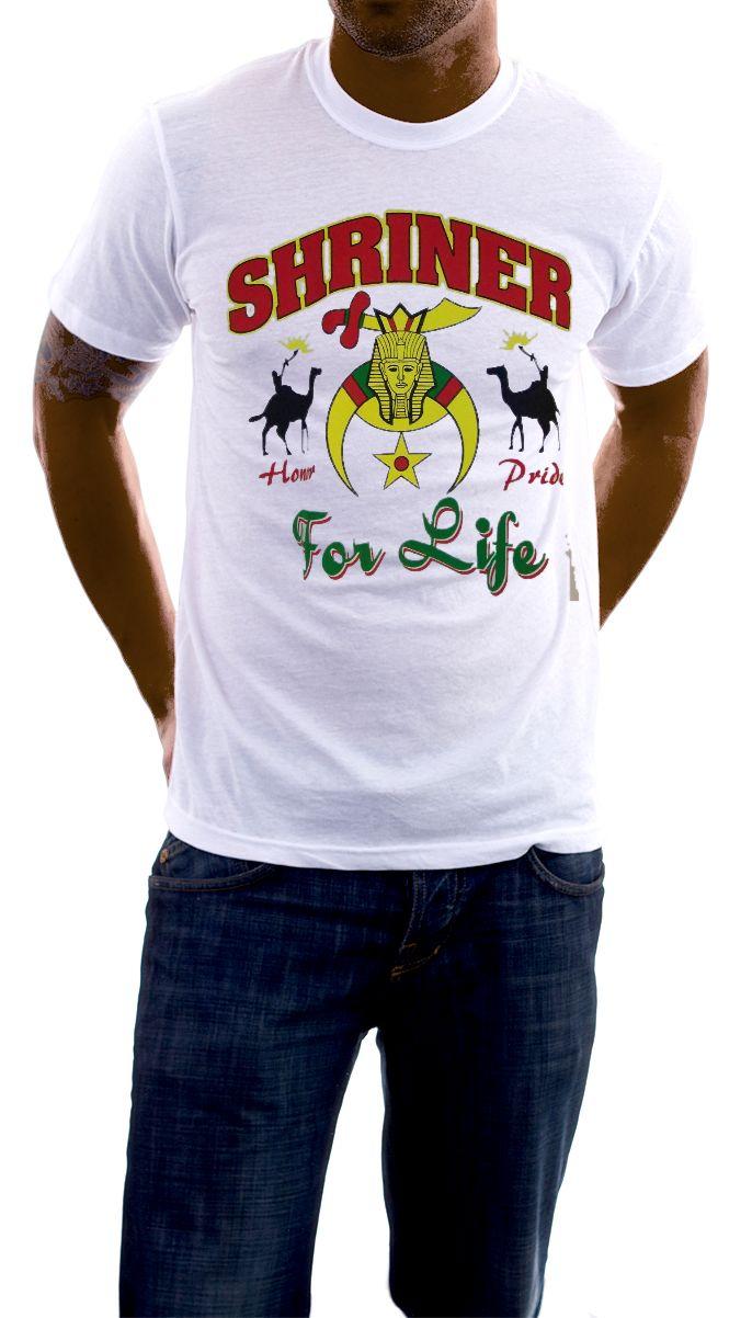 Storenvy coupon: Shriner - Nobility / Shriner For Life White T-Shirt