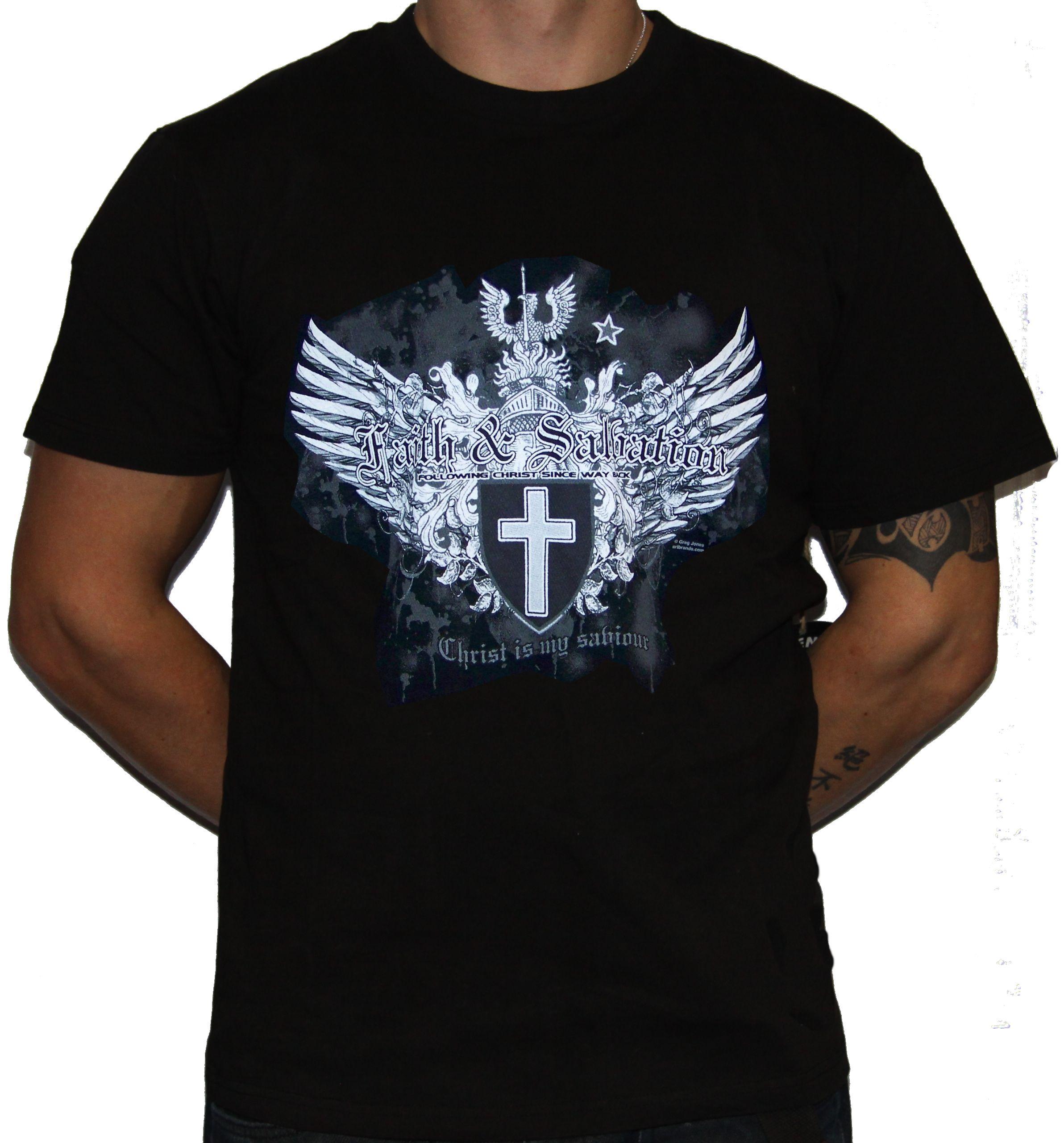 Storenvy coupon: Spiritual - Christ is My Salvation Black T-Shirt