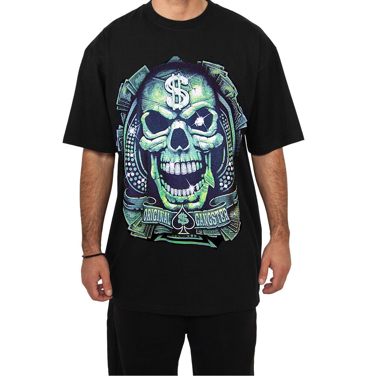 Storenvy coupon: Urban - Original Gangsta with Money and Skull Black T-Shirt