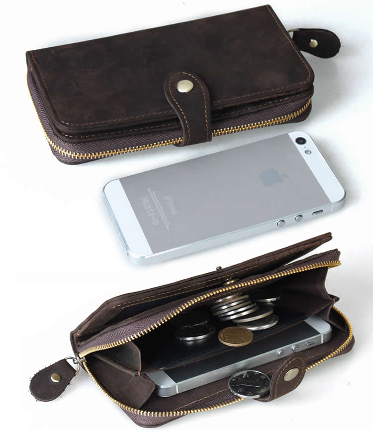 Handmade Vintage Leather Wallet / iPhone 5 5c 5s iPhone 6 6s Wallet / Purse / Case - w3-3 (8579221) photo