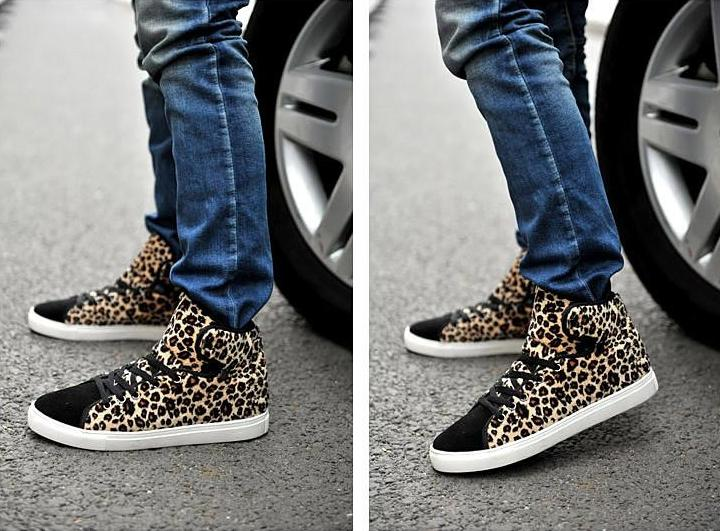 top Casual Sneakers Leopard-print Shoes